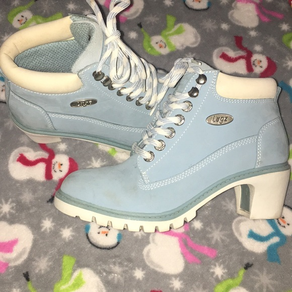Lugz Shoes Baby Blue Boots Poshmark